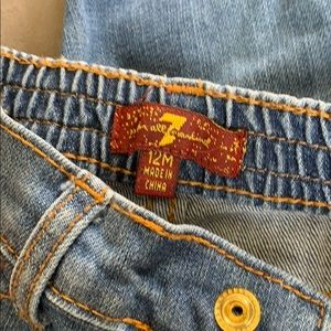 7 For All Mankind Bottoms - 7 for all mankind baby jeans 12 months